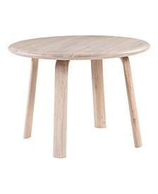 Malibu Round Oak Dining Table