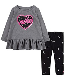 Baby Girls Peplum T-Shirt and Leggings Set