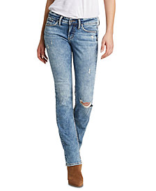 Silver Jeans Co. Suki Distressed Bootcut Jeans, Regular & Short