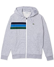 Men's SPORT Long Sleeve French Terry Full-Zip Hoodie with Rainbow Stripes