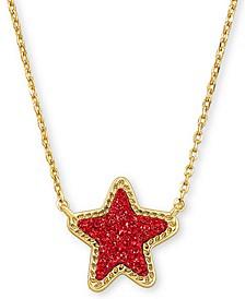 "Rock Crystal Star Pendant Necklace, 17"" + 2"" extender"
