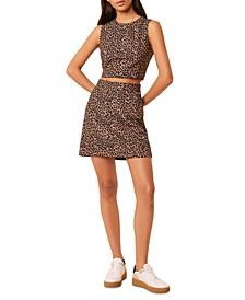 Leopard-Print Mini Skirt