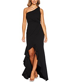 One-Shoulder High Low Gown