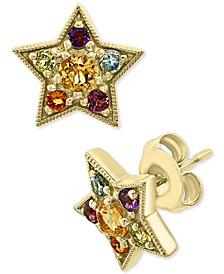 EFFY® Multi-Gemstone Star Stud Earrings (5/8 ct. t.w.) in 14k Gold