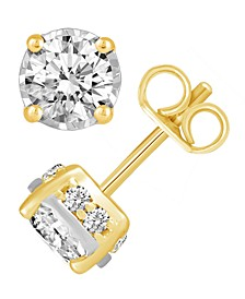 Diamond (1-1/2 ct. t.w.) Stud Earrings in 14K White, Yellow or Rose Gold