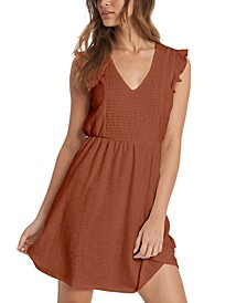 Juniors' Morning Breeze Ruffle-Sleeve Dress