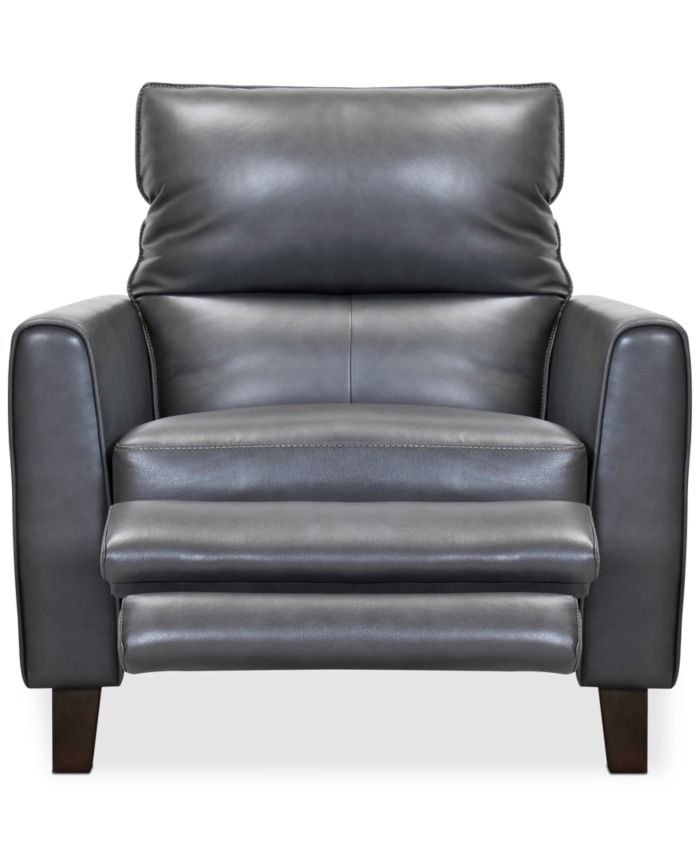 """Furniture Tyvon 35"""" Leather Power Motion Recliner & Reviews - Furniture - Macy's"""