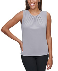 Pleated-Neck Tank