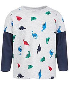 Baby Boys Dino-Print T-Shirt, Create for Macy's