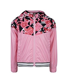 Toddler Girls Sportswear Printed Wind Runner Jacket
