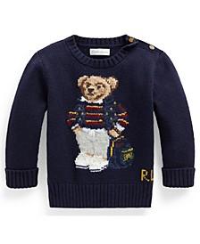 Baby Boys Polo Bear Cotton-Blend Sweater