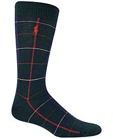Men's Cashmere Oversized Blackwatch Boot Socks