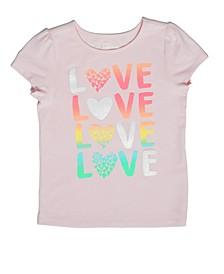 Little Girls Love Ombre T-shirt