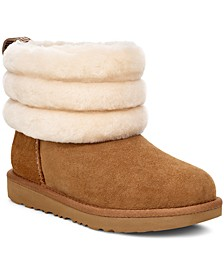 Little & Big Girls Fluff Mini Quilted Boots