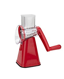 Rotary Drum Cheese Grater, Vegetable Shredder, Food Slicer and Chopper with Interchangeable Blades