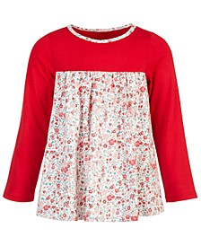 Toddler Girls Ditsy Floral-Print Cotton Tunic, Created for Macy's