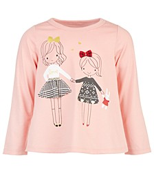 Baby Girls Holiday Sisters T-Shirt, Created for Macy's