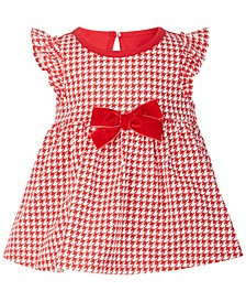 Baby Girls Houndstooth Bow Sunsuit, Created for Macy's