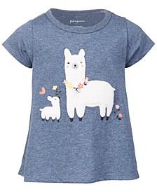 Baby Girls Short Sleeve Llama Tee, Created for Macy's