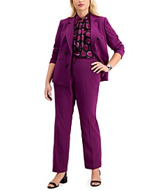 Trendy Plus Size Blazer, Top & Pants, Created for Macy's