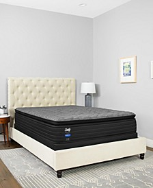 "Premium Posturepedic Beech St 13.5"" Cushion Firm Euro Pillowtop Mattress Set- Queen"