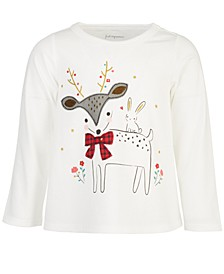 Baby Girls Reindeer Cotton T-Shirt, Created for Macy's