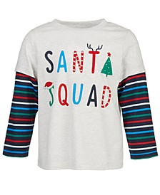 Toddler Boys Layered-Look Santa Squad T-Shirt, Created for Macy's