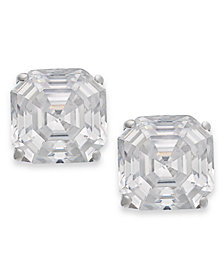 Arabella 14k Gold Earrings, Swarovski Zirconia Stud Earrings (6mm)