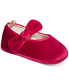 Baby Girls Velvet Flats, Created for Macy's