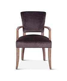 Portia Asphalt Velvet Armchair