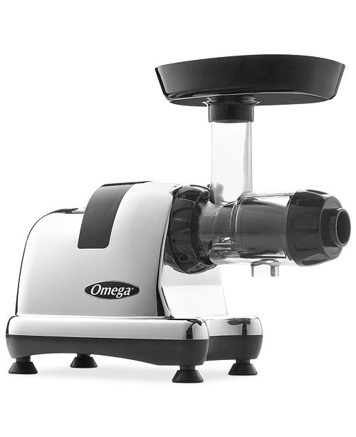 Omega 8008 Chrome Slow Speed Nutrition Center Masticating Juicer