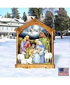 by Susan Winget Holly Family Nativity Outdoor, Wall and Lawn Decor