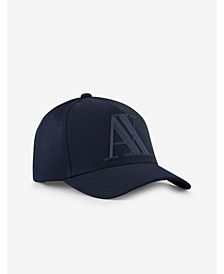 A X Armani Exchange Men's Rubber Logo Hat