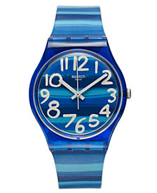 Swatch Watch, Unisex Swiss Linajola Multi-Color Plastic Strap 34mm GN237