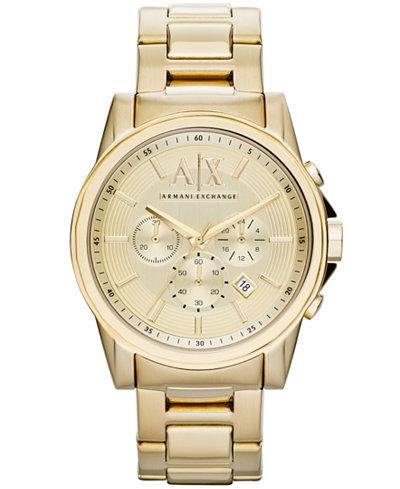 a x armani exchange watch men s chronograph gold ion plated a x armani exchange watch men s chronograph gold ion plated stainless steel bracelet