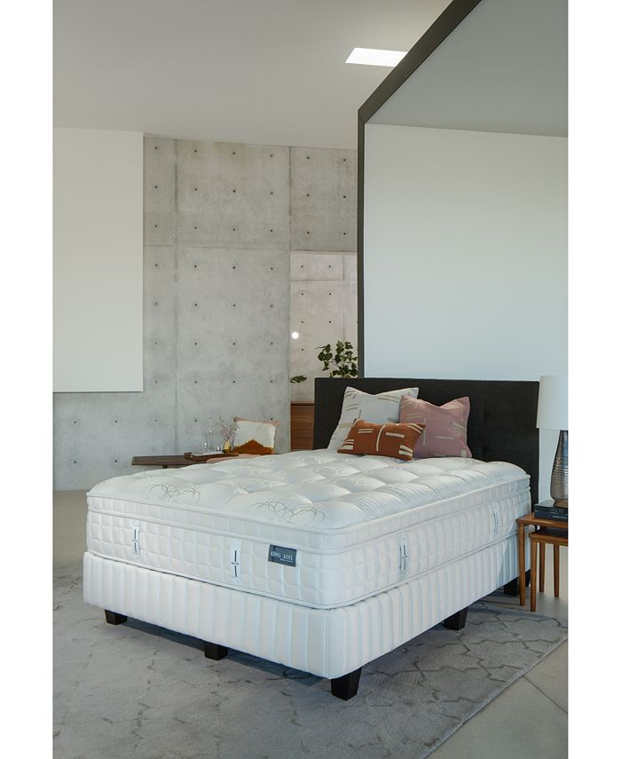 "King Koil - Marlow 14.5"" Plush Euro Pillow Top Mattress Set- Queen Split"
