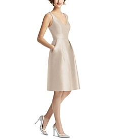 V-Neck A-Line Dress