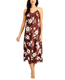 INC Lace-Trim Long Nightgown, Created for Macy's