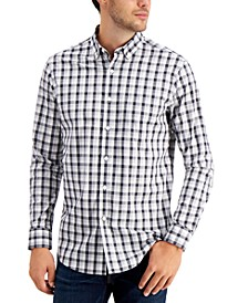 Men's Gradient Checked Shirt, Created for Macy's