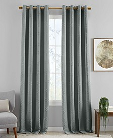 Huxley Geometric Textured Blackout Curtain Collection