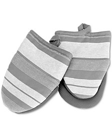 Yarn Dyed Striped Mini Oven Mitts, Set of 2