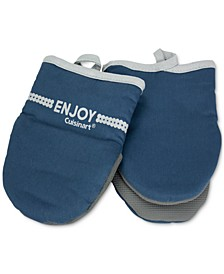 Oversized Mini Oven Mitts with Printed Words, Set of 2