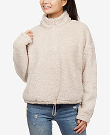 Hippie Rose Juniors' Sherpa Sweatshirt