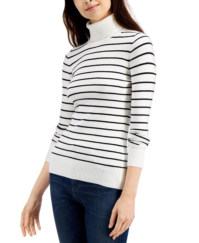 French Connection - Striped Turtleneck Sweater