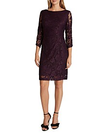 Side-Ruched Lace Dress