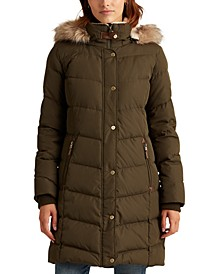 Petite Hooded Down Coat