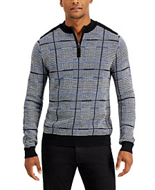 Men's Mixed Pattern Quarter-Zip Sweater, Created for Macy's