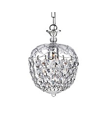 """Silver 8"""" 1-Light Indoor Chandelier with Light Kit"""
