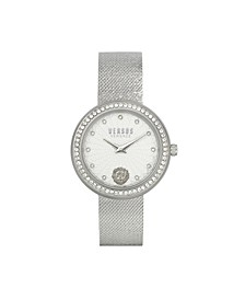 Women's Lea Silver Tone Stainless Steel Bracelet Watch 35mm