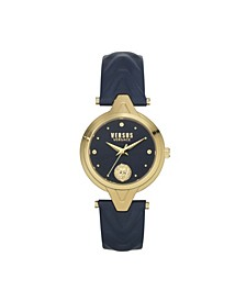 Women's Forlanni Blue Leather Strap Watch 30mm